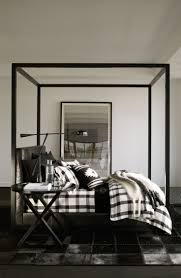 ralph lauren home u0027s modern plaid bedding in a sleek palette of