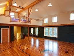 indoor basketball court mode boston traditional home gym