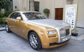 roll royce rent rent rolls royce ghost gold dubai uae