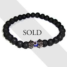 evil eye beads bracelet images White bronze lava ceramic bead evil eye men 39 s bracelet men 39 s jpg