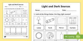 light and dark worksheets for year 1 worksheets aquatechnics biz