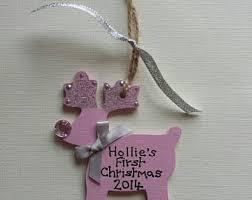 Personalised Reindeer Christmas Tree Decorations by Reindeer Decoration Etsy