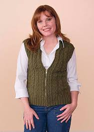 slipped cable vest pattern knitting patterns and crochet