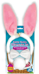 Light Halloween Costumes Amazon Easter Bunny Ears 3pc Light Toy Tail Bowtie