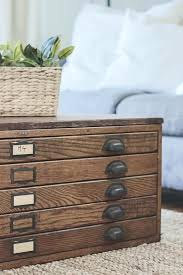 file cabinet side table repurposed blueprint cabinet coffee table