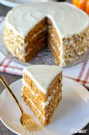 pumpkin carrot cake with cheese frosting