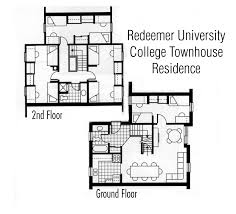 two bedroom townhouse floor plan guest accommodations redeemer university