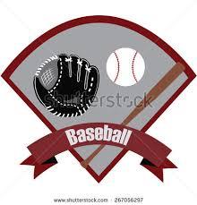 baseball ribbon abstract isolated baseball icon ribbon text stock vector 267056297