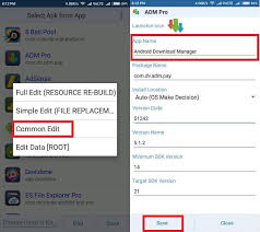 apk editor pro how to rename android app and change app icon using android