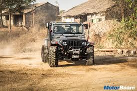 mahindra thar modified mahindra thar daybreak review test drive motorbeam