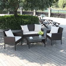 patio charming indoor patio furniture black square modern rattan