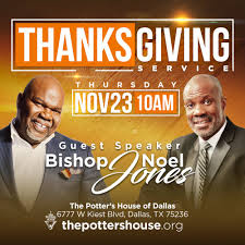 t d jakes on enter his gates with thanksgiving and his
