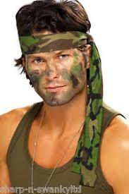 rambo headband mens army camouflage rambo headband scarf fancy dress