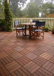 how to use our interlocking decking tiles for resurfacing drab patios