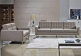 Modern Sofa And Loveseat Angela Grey Fabric Modern Sofa And Loveseat Set Gray
