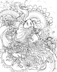koi fish pencil sketch coloring pages download u0026 print online