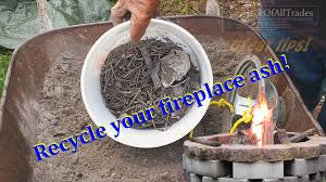 wood ash recycle your fire pit wood ash with this great tip youtube