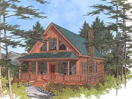 lake cabin plans driftwood spring cottage home front image from houseplansandmore