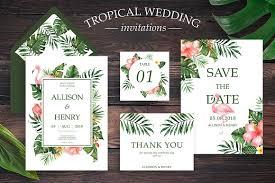 tropical wedding invitations tropical wedding invitation suite invitation templates
