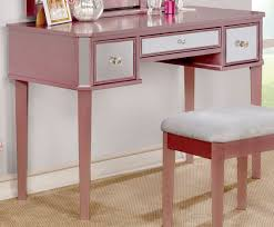 Pink Vanity Set Furniture Of America Clarisse Rose Gold Vanity Set Cm Dk6148rg