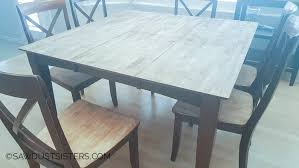 Teal Dining Table Stunning Wood Dining Table Makeover Sawdust