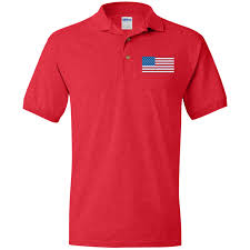 Embroidered American Flag American Flag Polo Shirt Unisex Fit Embroidered U2013 Eye Catching