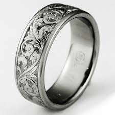 titanium wedding ring exeter 1 titanium ring with scrollwork titanium wedding rings