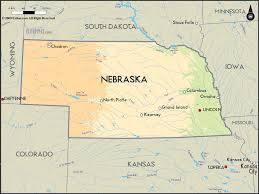 Time Zone Map United States Geographical Map Of Nebraska And Nebraska Geographical Maps