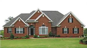 brick homes plans traditional brick ranch hwbdo63914 new american from