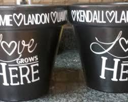 personalized flower pot personalized flower pot etsy