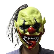 Scary Mask Yeduo Halloween Scary Mask With Wig Hair Green Face Clown Latex