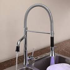 led kitchen faucet contemporary pull kitchen faucet with color changing led