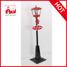 72 popular musical and snowing black lpost with led lights