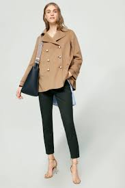 camel double breasted wool coat womenswear coats jackets