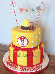 curious george birthday cake create bake