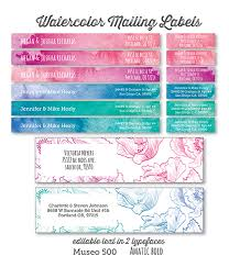 printable watercolor and floral address labels lia griffith