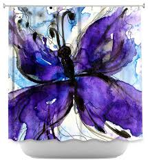 Shower Curtains Unique Shower Curtain Unique From Dianoche Designs Butterfly Song Iv