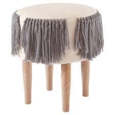 target nate berkus fringe woven stool domino