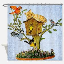 Birdhouse Shower Curtain Birdhouse Shower Curtains Birdhouse Fabric Shower Curtain Liner