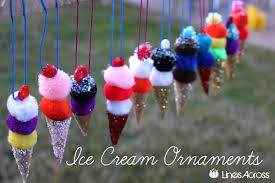 ice cream christmas decorations