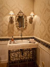 victorian bathroom photos hgtv neutral powder room with ornate