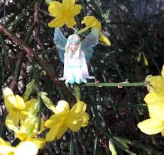 belle the winter fairy is keeping busy my fairy garden