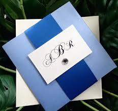 royal blue wedding invitations pocket fold wedding invitation royal blue wedding invitation