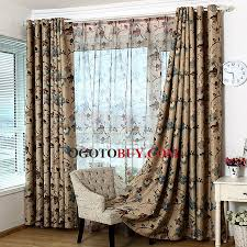 vintage polyester fabric printed floral country curtain buy multi