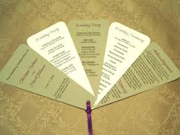 wedding ceremony fan programs wedding programs diy hixathens