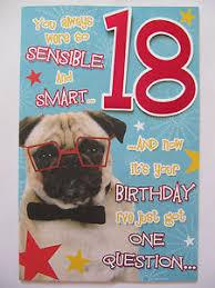 pug dog you always were so sensible u0026 smart 18 18th funny birthday