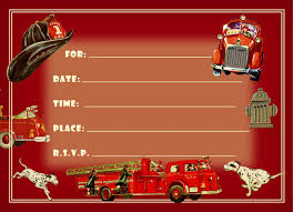 firefighter birthday party invitations party pack 8 cards