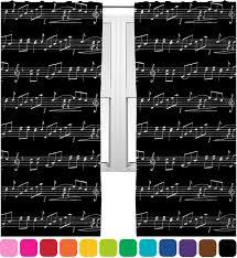 Curtains Music Amazon Com Musical Notes Curtains 40