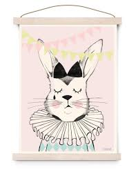 rabbit poster rabbit poster a4 studioloco