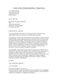 guidelines for cover letter 28 images sle cover letter format